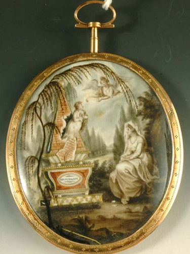 mourning miniature, georgian, 1790s