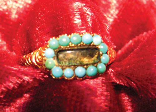 1830s Embellished 3rd Stage Mourning Ring
